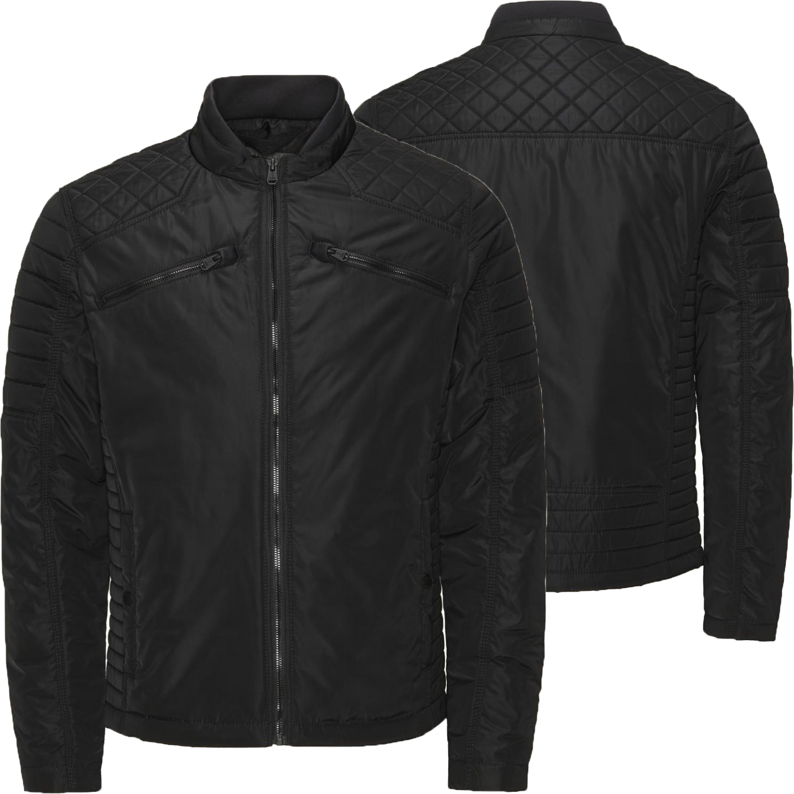 jack jones herren jacke jjco eli light biker s m l xl xxl jacket schwarz neu ebay. Black Bedroom Furniture Sets. Home Design Ideas